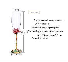 1 Pair <b>Enamel Red</b> wine <b>glass</b> Colorful <b>Lead free</b> Champagne <b>Glass</b> ...