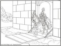 Small Picture Knight Colouring Pages