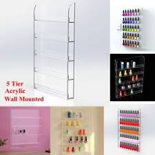 Nail Polish Display Stand Uk WALL MOUNTED NAIL POLISH DISPLAY STAND LIP HOLDS OPI CND SHELLAC 2
