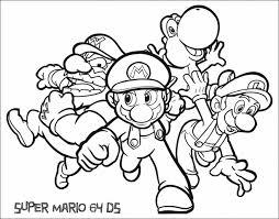 Super Mario Brothers Mario Luigi Free Printable Coloring Pages