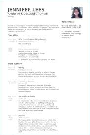 Nanny Resume Examples Beautiful 40 Babysitter Duties For Resume Adorable Infant Nanny Resume