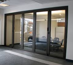 Decorating commercial door systems images : Closed Interior Folding Glass Wall | Portland Restaurant ...