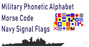 Military Phonetic Alphabet Signal Flags