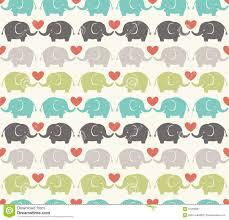 Elephant Pattern Delectable Seamless Cartoon Elephant Pattern Stock Vector Illustration Of