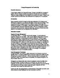 change management essays