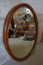 french art deco oval mirror 1930s for