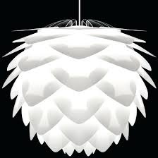 white lamp shade vita medium with blue trim white lamp shade
