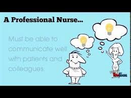 Professionalism In Nursing Professional Nurse Youtube