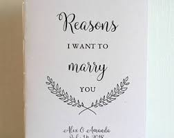 wedding booklet etsy Wedding Booklet reasons i want to marry you wedding booklet medium size engagement or wedding gift wedding booklet templates