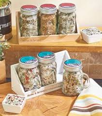 Decorative Spice Jars Home Essentials and Beyond Country Chic Spice Jar Set of Six 20