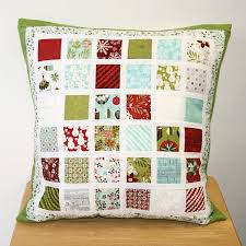 134 best Quilted Pillows images on Pinterest | Cushions, Beautiful ... & Mini Charm Pack Cushion Adamdwight.com