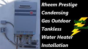 rheem tankless condensing outdoor water heater installation