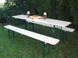 Vintage Folding German Beer Garden Picnic Tables WBenches Beer Garden Benches