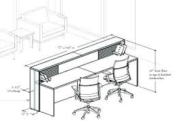 office desk size. Standard Office Desk Dimensions Average Home Size Sizes Full Of Reception I