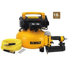 dewalt compressor. dewalt 18-gauge brad nailer and 6 gal. heavy duty pancake electric air compressor dewalt a