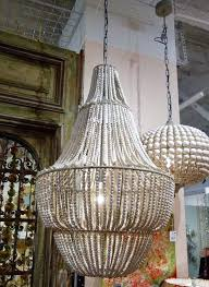 ideas beaded chandelier pendant light for stunning large seaside white washed beaded wood 4 tier chandelier