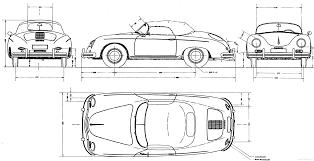porsche 356a speedster gif 3000×1537 linedrawings porsche 356 speedster abmessungen porsche 356 speedster höhen fahrwerk