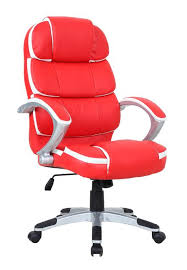 red leather office chair. Stylish Red Leather Office Chair O