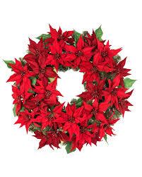 Outdoor LED Poinsettia Wreath Main Outdoor LED Poinsettia Wreath Alt ...