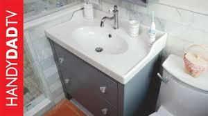 Ikea Hemnes Vanity Installation Master Bath Remodel Part 8 Youtube