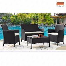 outdoor patio furniture sets cheap. 4pc outdoor rattan wicker patio furniture set cushioned sofa \u0026 table garden lawn sets cheap