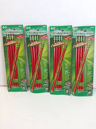 Red Checking Details About Ticonderoga Red Erasable Checking Pencils Set Of 4 Packs With 4 In Each Pack