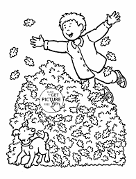 For Kids Printables Happy Leaves Coloring Sheets Fall Coloring ...