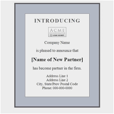 New Business Announcement Cards Admirable New Business Announcement
