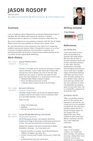Sample Social Media Resume Social Media Resume Example Best Resume Collection 15