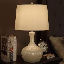 bedside lamps small round white lamp table contemporary round