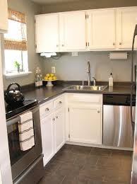 white kitchen countertop with steinless countertop with single sink also minimalist white cupboards design for small