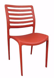 outdoor plastic stackable dining furniture chair red louise