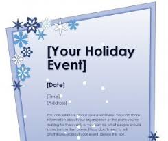 holiday template word holiday flyer template word templates