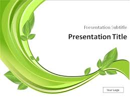 Download Branch With Green Leaves Powerpoint Template