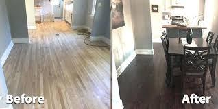 restain hardwood floor hardwood refinishing before and after staining hardwood floors diy