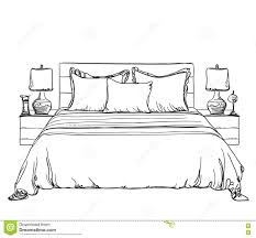 bedroom clipart black and white. pin drawn bedroom black and white #4 clipart