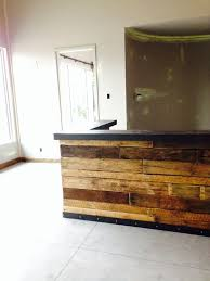 rustic reclaimed reception desk with raw steel countertop interior sliding barn doors reception desks countertop and desks