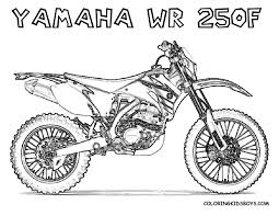 Print Out Coloring Pages Yamaha Wr250f