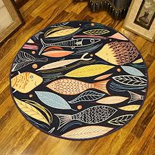carpet cartoon small fish bedroom round carpet children s room bedside living room coffee table hanging basket