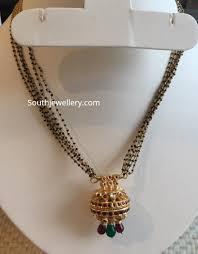 black diamond mangalsutra chain