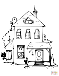 haunted house drawing. click the haunted house drawing