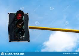 What Is Blue Light On Traffic Signal Red Traffic Signal Stock Photo Image Of Regulate