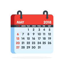 calendar for the month of may calendar for 2018 year full month of may icon vector illustration