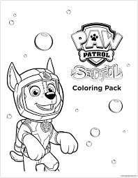 Sea Paw Patrol Coloring Page Paw Patrol Coloring Pages Paw