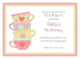 Kids Tea Party Invitation Wording Tea Party Invitations Printable Template My Wifes Stuff Tea