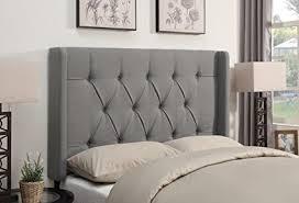tufted upholstered beds. Pulaski Shelter Button Tufted Upholstered Headboard, Ash, King Tufted Upholstered Beds