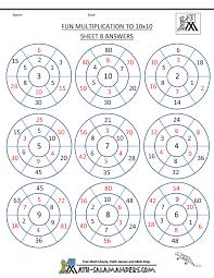 Fun Multiplication Worksheets to 10x10Fun Multiplication to 10x10 Sheet 8 ...