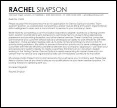 Team Assistant Cover Letter Sample Cover Letter Templates Examples