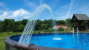 above ground pool fountain above ground pool fountain and waterfalls above ground pool fountains