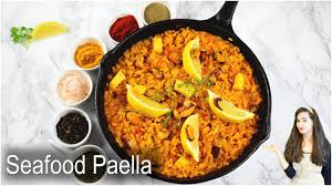 Seafood Paella Recipe - YouTube